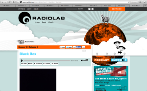 "Click to navigate to Radiolab and stream live audio of ""Black Box"""