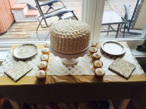 Homemade cake courtesy of sister Cassie
